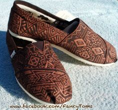 Handpainted Custom Toms Shoes  Southwestern Design by FancyToms, $40.00    if anyone is looking for a really great birthday present for me