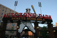 Autozone Park is the home of the Memphis Redbirds. My family and I have been to multiple games in the past.