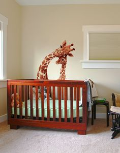 Decal #6262 (Watercolor Artwork of Mother and Baby Giraffe).Simply peel and stick. No glue or chemicals needed, all decals come with instructions.Wall Graphics are printed on premium vinyl material.StickerBrand Wall Graphics are removable a...