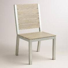 One of my favorite discoveries at WorldMarket.com: Wood and Metal Pelagia Dining Side Chair