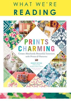 "Beautifully photographed and packed with tips, suggestions, takeaway ideas, and history lessons, ""Prints Charming"" is the must-have design book of the season (and the perfect gift)! Known for their passion for prints and patterns, authors and interior designers John Loecke and Jason Oliver Nixon of Madcap Cottage show you how to mix and match in a fun, accessible and never-scary way in their new book."
