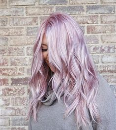 Metallic hair color lavender pink