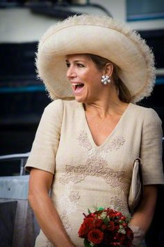 Queen Máxima, August 29, 2015 in Fabiienne Delvigne | Royal Hats