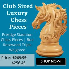 Prestige Series Chessmen are full club sized luxury chess pieces that have a handsome design profiling with one of the most exquisite knights that we have ever made. #chessgame #chess #chessplayer #chessboard #boardgames #chesslife #chessmaster #chessclub #chesslover #chessmoves #checkmate #chesstournament #chesspuzzle #chesspieces #chessieoftheday #chessman #worldchess #chesslove #chessnews #art #chesssets #playchess #woodenchess #chessmaster #trendinggames #famouschessmen #popularchess Chess Puzzles, Chess Moves, Wood Chess Board, Chess Players, Chess Pieces, The Prestige, Knights, Board Games, Mall