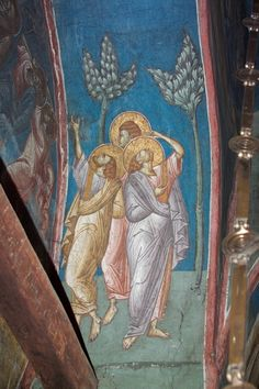 BLAGO | BLAGO : Decani : 27d Three Apostles, a detail of the Ascension of Christ