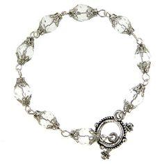 filigree lantern crystal bracelet  bridesmaid jewelry  This is so unique.