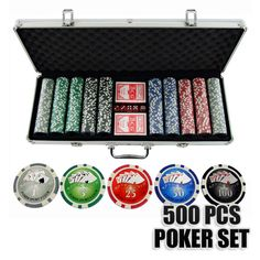 Poker Chip and Card Set with 500 Pieces and Case   Buy Poker Sets