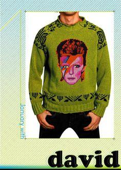 extreme knitting calendar by izabela kaczmarek, via Behance Extreme Knitting, David Bowie Ziggy, How To Purl Knit, Knit Purl, Sweat It Out, My Wife Is, Knitting Patterns, Knitting Charts, Knitting Ideas