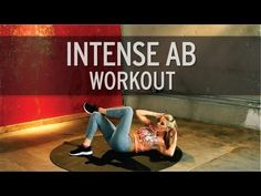 Intense Ab Workout 5 exercises: 30 seconds on, 10 second rest = 10 minute video