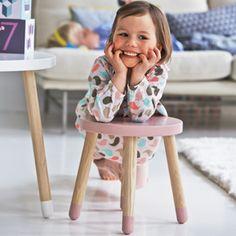 Tabouret rond pour enfant Flexa Play - Rose