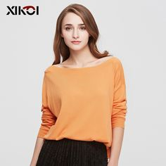 Batwing Sleeve Solid Pullovers Computer Flat Knitted Women's Sweaters | ClothesWorld