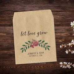 Wedding Seed Packets Pink Peony Bouquet – W-A111