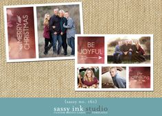 The Be JOYFUL Watercolor holiday photo card is a two-sided, 5x7 digital template designed using WHCCs 5x7 flat greeting card template. The front