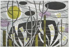 Angie Lewin 'Rain Harris' limited edition linocut http://www.angielewin.co.uk/products/rain-harris