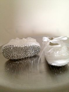 If I ever have a baby girl she will have these :)   Crystallized Baby Baptism/Christening Booties