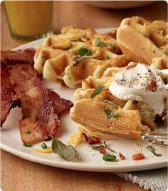 cheddar-sage waffles