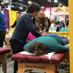 Dr Ming Wu and his wife Shirley doing Tui Na today at the Natural Living Expo.