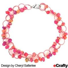SEA GLASS BEADED CHAIN BRACELET TUTORIAL For this summery bracelet, Cheryl paired eCrafty.com's pink colored jump rings with our sunset sea glass spacers for a simple project with big results. ‪#‎pink‬ ‪#‎sunset‬ ‪#‎sea‬-glass #sea-glass ‪#‎seaglassbeads‬ ‪#‎beads‬ ‪#‎jump‬-rings ‪#‎jewelry‬-supplies ‪#‎diy‬ ‪#‎crafts‬ ‪#‎ecrafty‬ ‪#‎etsy‬ ‪#‎handmade‬ For instructions., clickable supply list & links, read on!