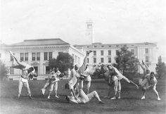 Jiu Jistsu on the field near Haviland Hall, University of California, Berkeley, c.1914