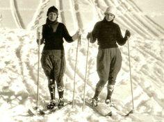 # vintage 1920's #skiing