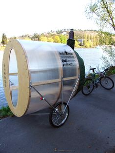 'bike sauna' by H3T architects // In Savannah, one would feel the same just riding a bike in this heat.