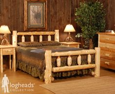 LogHeads Kentucky Rustic Log (Headboard) they r makin me 1 right now!