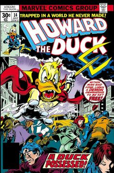 Howard the Duck #14 (Jul '77) cover by Gene Colan  Tom Palmer
