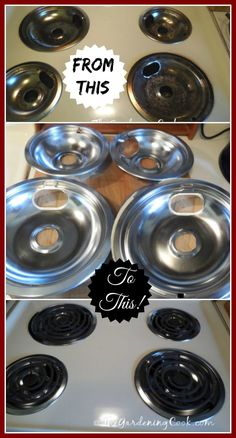 Drip Pan and Burner Cleaning Using Household Ammonia