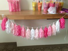 Southern in Love: How To: Tissue Paper Tassel Garland