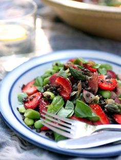 Maple-tossed Beluga Lentil Salad. This salad is a great make-ahead dish because the lentils hold up well after cooking.