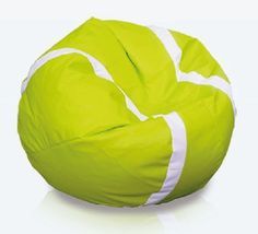 Tennisbal zitzak leatherlook Ø 105cm De tennisbal zitzak is een must voor iedere tennis liefhebber. De zitzak heeft door de leatherlook stof een luxe uitstraling en een geweldig zitcomfort.