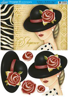 Litoarte Decoupage Vintage, Cool Clipart, Art Deco Cards, Arts And Crafts, Paper Crafts, Paris Design, Unusual Things, 3d Cards, Button Art