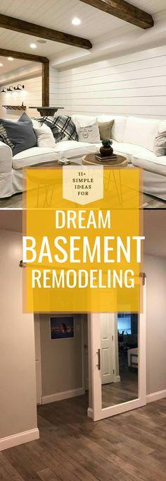 Best DIY Renovation Ideas for unfinished Basement Basement Decorating, Basement Makeover, Basement Renovations, Diy Home Crafts, Diy Home Decor, Rustic Stairs, Diy Ideas, Decor Ideas, Diy Decoration