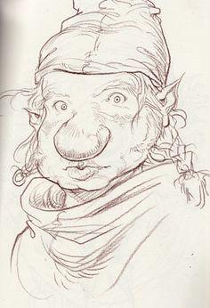 Chris Riddell: Three questing dwarfs from new Neil Gaiman Chris Riddell, Paul Stewart, Neil Gaiman, Dwarf, Faeries, Art Reference, Illustrators, Drawings, Artwork