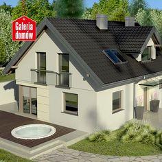 To zrównoważony dom z charakterystycznymi, nowoczesnymi elementami wykończenia elewacji. Współczesna forma bryły budynku o nienagannych proporcjach w zestawieniu stonowanej kolortystyki ma wywołać pozytywne wrażenia związane z estetyką i elegancją. Użytkowy program wnętrza zawiera pomieszczenia niezbędne dla współczesnego modelu życia. Program, Case, Home Fashion, Villas, Mansions, House Styles, Outdoor Decor, Home Decor, Decoration Home