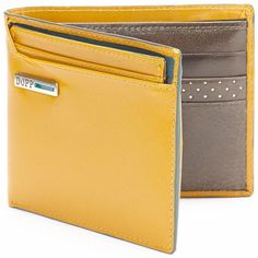 Dopp Beta Leather Rfid-Blocking Convertible Credit Card Billfold ($61) ❤ liked on Polyvore featuring men's fashion, men's bags, men's wallets, gold, mens leather card case wallet, mens leather credit card holder wallet, mens card holder wallet, mens leather bifold wallet and mens leather wallet