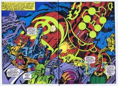 """ungoliantschilde: """"the Eternals, Vol. 1 # 10 Pgs. 02-03, by Jack Kirby and Mike Royer. """""""