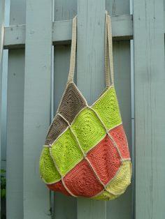 Tutoriel du « sac 22 carrés » au crochet (ou granny square bag)