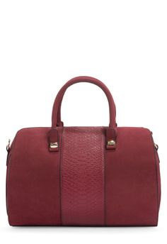 URBANITE-http://www.justfab.com/invite/812584/  Simple and oh-so-classic, bowler bags are so on-trend right. The perfect desk-to-date night accessory. Dual top handles with front reptile-e...