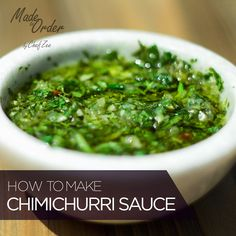 How to Make Chimichurri Sauce | Chimichurri is a simple sauce that elevates any dish! It goes great on grilled meats but feel free to try it on tostones, yuca, and more. Enjoy!