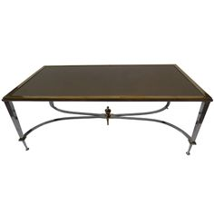 A Fine Jansen Rectangular Large Coffee Table | From a unique collection of antique and modern coffee and cocktail tables at http://www.1stdibs.com/furniture/tables/coffee-tables-cocktail-tables/