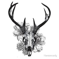 """Deer Skull"" Stickers by Hansencarly 