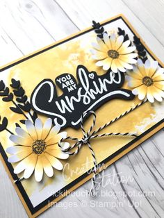 Flower Stamp, Flower Cards, Small Sunflower, Get Well Cards, Paper Pumpkin, Stamping Up, Creative Cards, Stampin Up Cards, Thank You Cards