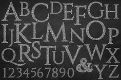 Hand Drawn Floral Vector Alphabet