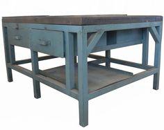 cast iron workbench.