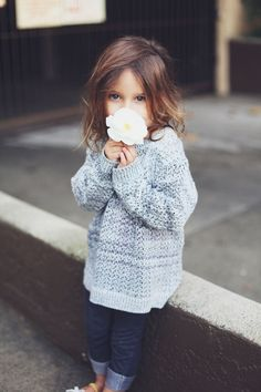 Baggy sweater and leggings .... too cute!