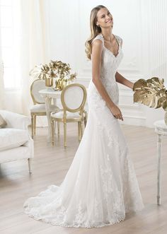 Laren by Pronovias available at Teokath of London