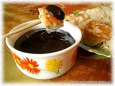 Соус из чернослива ( вместо яблока - горчица)