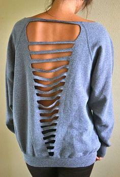 How to make old sweatshirts cute!!