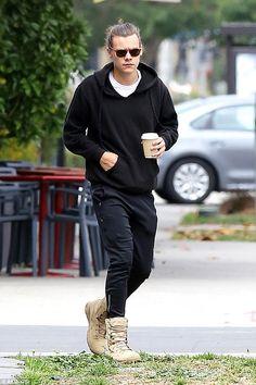 Harry Styles sports his trademark man bun after Billboard Music Awards #dailymail